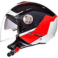 MT Casco Semi-Jet City Eleven SV Spark Rojo (M)