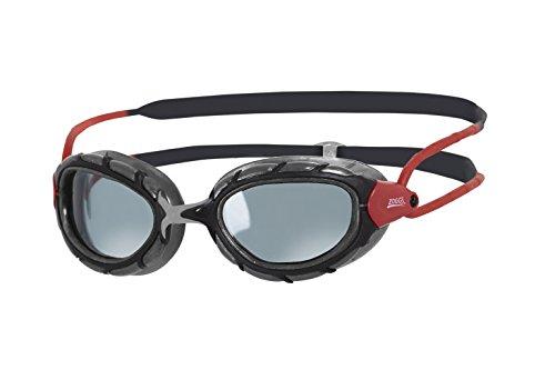Zoggs Predator Smoked Polarized Gafas, Unisex, Negro /Rojo, Talla Única