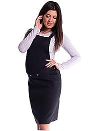 Mija - Latzrock Umstandsrock mit Bauchband/sportlich Denim Jeans 4044