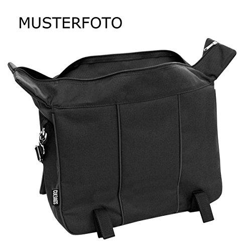 C-BAGS DIGNITY single CLASSIC Eco Leather Gepäckträger Fahrrad Tasche verschiedene Muster capuccino