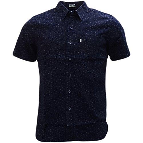 Levi's - Camisa Casual - Lunares - Clásico - Manga Corta - para Hombre Azul añil Small