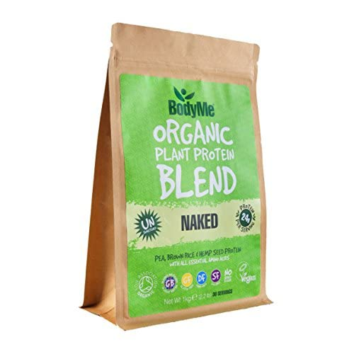 BodyMe Organic Vegan Protein Powder Blend | Naked Natural | 1kg | UNSWEETENED | Low Carb | with 3 Plant...