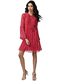Ritu Kumar Women's Silk Loose Fit Tunic(TUNCS22D-400N16137498__Pink)
