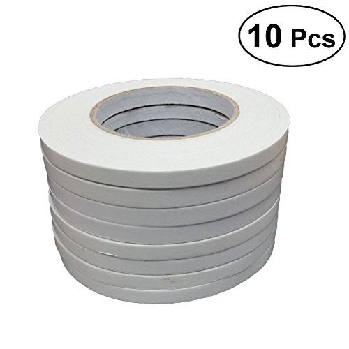 TOYMYTOY Doppelseitige Klebebänder für Geschenkpapier Home Office Schule Schreibwaren (5 x 50 m, 10 Rollen)