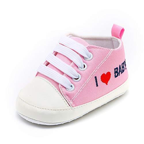 YanHoo Zapatos para niños Cartas Amor Imprimir Zapatos de bebé Zapatos de niño Zapatos de bebé Newborn Toddler Baby Girls Boys Letra del corazón Imprimir Sólido Suela Suela Zapatos Ocasionales