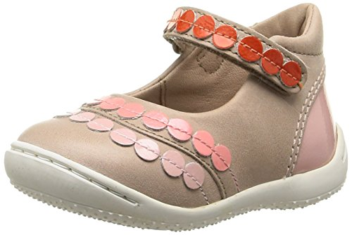 Kickers Girly, Chaussures Bébé marche bébé fille Beige (Beige/Rose)