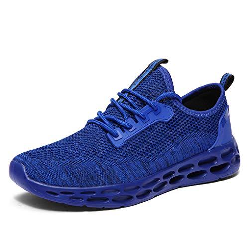 Dorical Sportschuhe für Herren/Männer Running Sneaker Flach Fitness Laufschuhe Leichte Freizeitschuhe Gym Schuhe Schnürsenkel Traillaufschuhe Joggingschuhe für Jungen (Blau,40 EU)