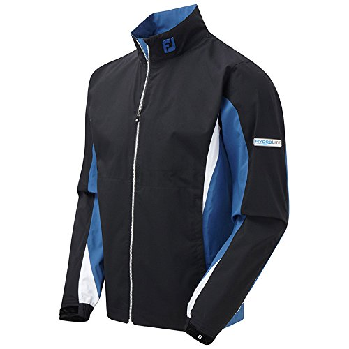 Footjoy Men's Hydrolite JKT Golf Jacket, Black/Blue, Large