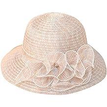0d41266d6d8ec Pamela - para Mujer Mujer Sol Verano Algodón Sombrero De ala Ancha Tapa  Abatible UPF 50