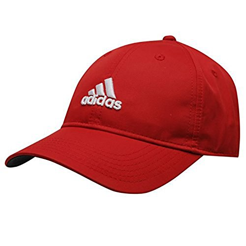Adidas Herren Golf Sports Flexible Peak Cap Hat Touch und Schließen Marke New rot rot Herren (Running-cap Adidas)