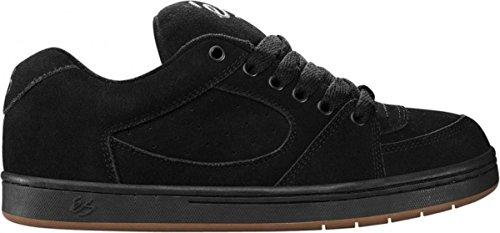 Es Skateboard-schuhe (ES Footwear Skateboard Schuhe Accel Black, Schuhgrösse:37.5)