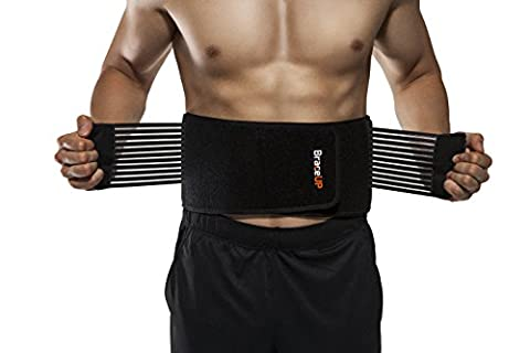 BraceUP Stabilizing Lumbar Lower Back Brace and Support Belt with