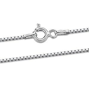 Amberta 925 Sterlingsilber Damen-Halskette – Venezianierkette – 1.0 mm Breite – Verschiedene Längen: 40 45 50 55 60 cm