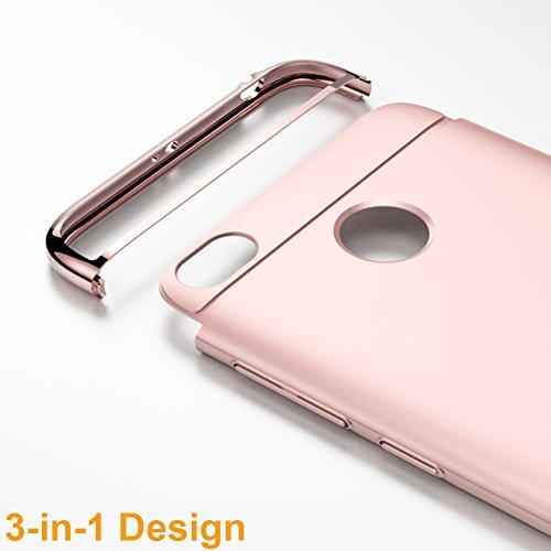 Coque Xiaomi Redmi 4X, MSVII® 3-in-1 Design PC Coque Etui Housse Case et Protecteur écran Pour Xiaomi Redmi 4X (Pas compatible avec Redmi 4) - Bleu JY50047 Or