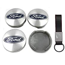 AUMEN - Tapacubos para Ford, Color Plateado 54mm