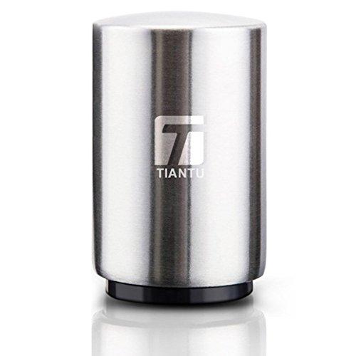 Tiantu Flaschen öffner Push&Pull,Kappenöffner,Bierflaschenöffner,Kunststoff,Edelstahl,8.5 x 5.3cm