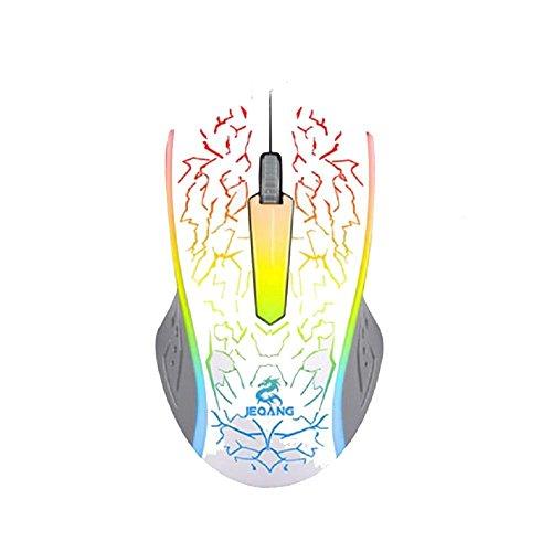 ruirui-souris kabelgebunden Gaming leicht, Maus Desktop-PC Laptop USB weiß weiß - Usb-ps/2 Optical Mouse