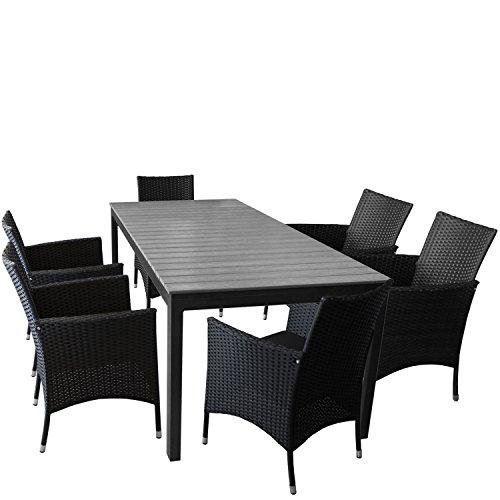 7er Set Gartenmobel Gartentisch Ausziehbar Polywood Tischplatte