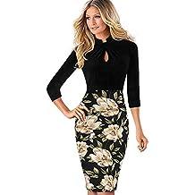 054f14bfb0baa2 Misshow Damen Kleider Business Bleistiftkleid Etuikleid Knielang Retro Etui  Abendkleid