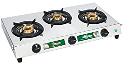 Golden Surya Trimax Stainless Steel -3 Burner Gas Stove