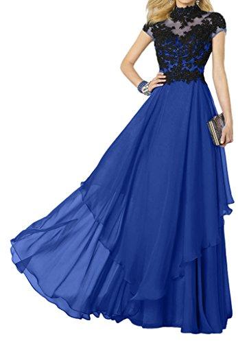Victory Bridal - Robe - Trapèze - Femme Bleu - Royal Blau/Schwarz