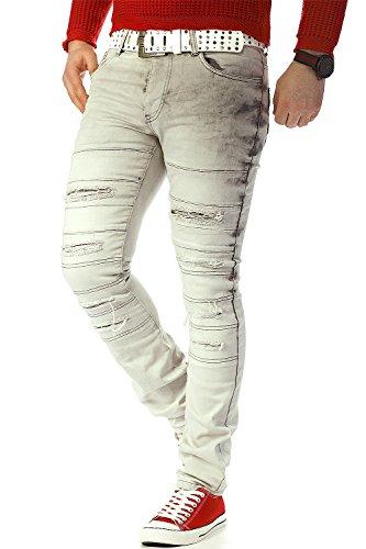 RedBridge Herren Jeans Mens Pants Freizeit-hose Clubwear Biker Style Top Denim Swag Dope Streetwear Modell-23