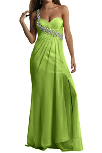 One-Shoulder general-case TOSKANA sposa Chiffon stanotte vestimento per sposa giovane a lungo Party ball vestimento stanotte mode Verde