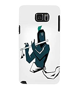 FUSON Graphic Krishna Playing Basuri 3D Hard Polycarbonate Designer Back Case Cover for Samsung Galaxy Note 5 :: Samsung Galaxy Note 5 N920G :: Samsung Galaxy Note5 N920T N920A N920I