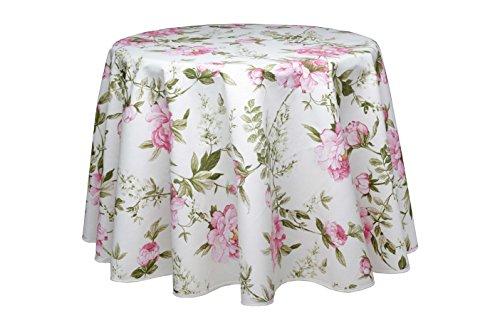 Runde Tischdecke, Bistrotischdecke, Bistrodecke, Rose Romantik, 140 cm, pflegeleicht von...
