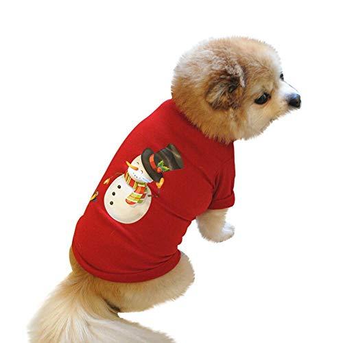 SEnjoyy Weihnachten Haustier Kleidung Weihnachten Hundemantel Hundekostüm Haustiere -