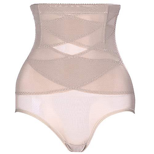 teemzone Damen Body Shapewear Bauch, fest für Kleid, schlankmachend, Aber heftiger High Waisted Unterwäsche für Frauen Taille Trainer - Beige - X-Groß (High-waisted Shaper Panty)