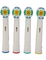 Bluelover 4pcs recambio Universal cabeza de cepillo de dientes electrico Braun Oral-B D serie