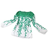 Ladies Long Sleeve Chiffon Blouse fashion Lace Splicing Shirt