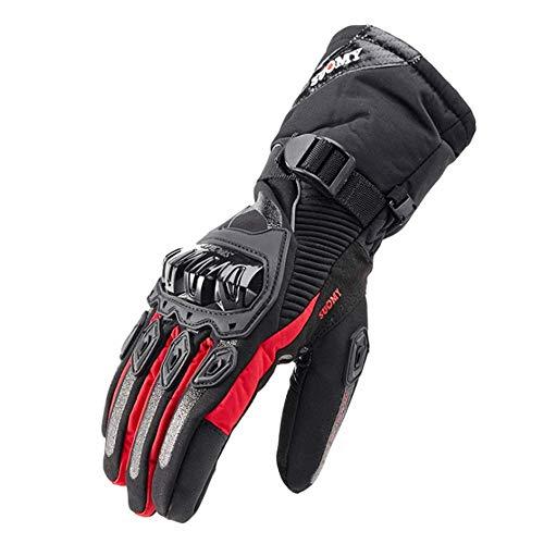 XBECO Winter Motorrad Handschuhe Wasserdicht Und Warm Vier Jahreszeiten Reiten Motorrad Radfahren/Jagd / Camping/Wandern / Klettern/Outdoor Sports Männer Frauen Handschuhe,Red,XXL - Spurs-motorrad-handschuhe