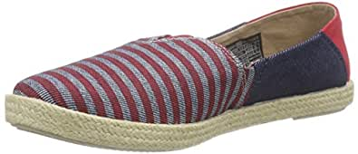 Tommy Jeans Hilfiger Denim S1385ARI 2JS, Espadrilles Femme - Multicolore - Mehrfarbig (Denim Stripe 931), 42