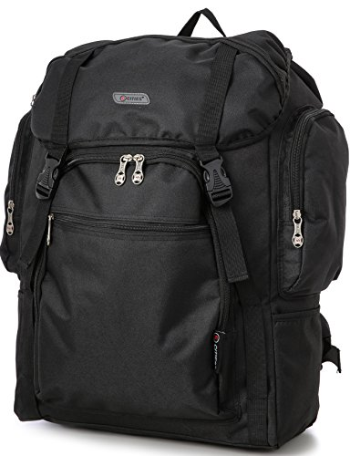 5 Cities Ryanair Maximum Cabin Allowance 55X40X20Cm Backpack, Approved Hand Luggage Flight Bag For Easyjet Equipaje de mano, 55 cm, 44 liters, Negro (Black)