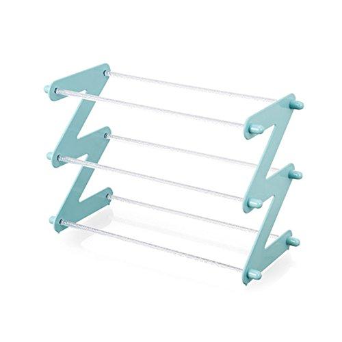 Xmzddz plastica scarpiera 5-tier,multi-strato regolabile domestico mini banco di cremagliera del pattino ripiano scarpiera armadio multi-funzionale scarpiera mobiletto modulare-a 45x19x30cm(18x7x12)