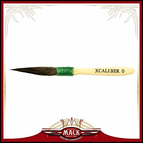 The XCaliber Striping Brush Series 1 1/2 Short Blue Squirrel Hair For Greater Control And Intricate Design - Size 0 by Andrew Mack Brush - Andrew Short