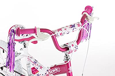 Sonic Glamour Girls' Bike - Purple/White, 16 Inch