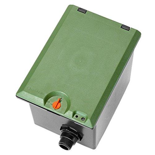 Regard pré-montable V1 de GARDENA : boîtier de sol pour l'installation souterraine de vannes d'arrosage, installation et retrait faciles (1254-20)