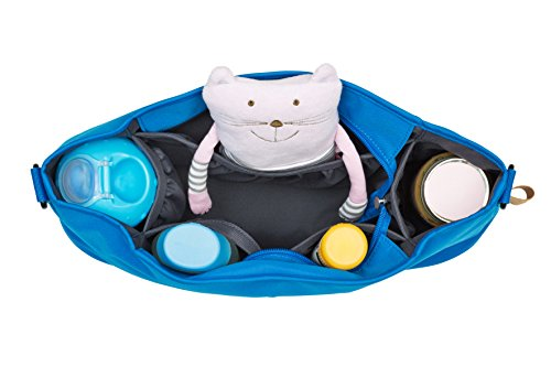Lässig Casual Buggy Organizer Kinderwagenorganizer-/tasche mit Reißverschluss, Star, ebony - 2