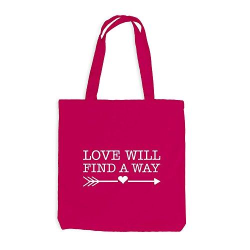 Pfeil Liebe way will Pink Love a find Jutebeutel Herz 0CAv1qxwa