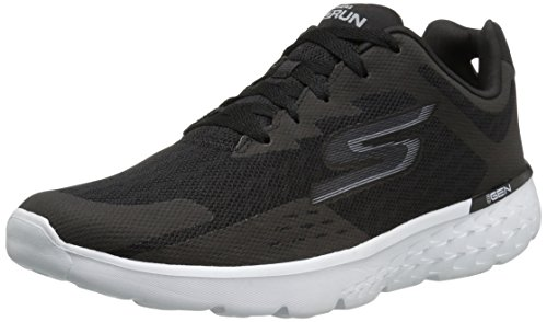Skechers Performance Go Run 400-Disperse, Chaussures Multisport Outdoor Homme, Gris (Charcoal/Red), 41 EU