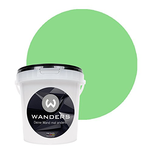 Wanders24 Tafelfarbe (1Liter, Hellgrün) matte Wandfarbe in 20 Farbtönen erhältlich, individuelle Gestaltung für Zuhause, Farbe made in Germany