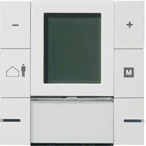 Hager WYT610 Raumtemperaturregler KNX m.LCD-Anzeige 6 Tasten brillantweiss -
