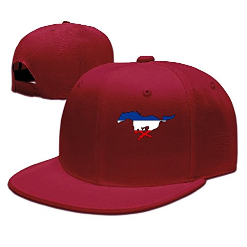 hittings ssee Unisex Adult Ford Mustang FLAT Bill Summer Visor Cap Natural Red