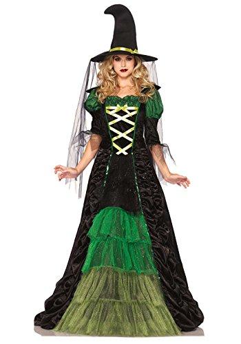 leg-avenue-85240-costume-per-travestimento-da-strega-donna-s-m-colore-nero-verde