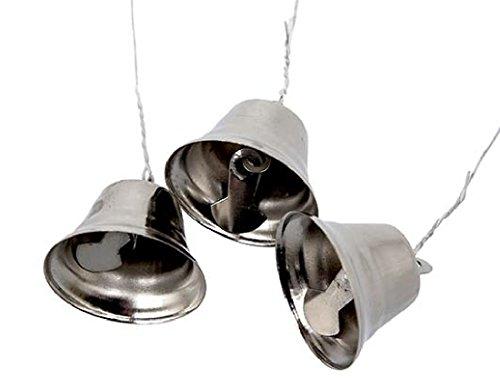 Bellaflor Glöckchen/18 Stück/Silber/2.5-3cm/Metall