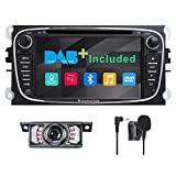 Double Din Car Stereo Radio DAB+(Included) for for Ford Focus Mondeo Galaxy S-max