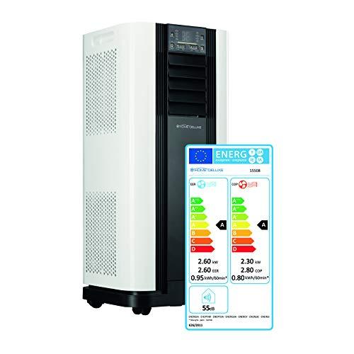 Home Deluxe - Mokli Mobile Klimaanlage - 4in1 System kühlen, heizen, entfeuchten, lüften - 9000 BTU/h (2.600 Watt) - Fernbedienung und Timerfunktion - Inkl. komplettem Montagematerial